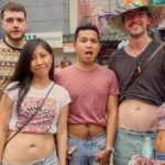 Showing of belly's on Sinulog Festival_Dave, Starry, Timo and Sadia