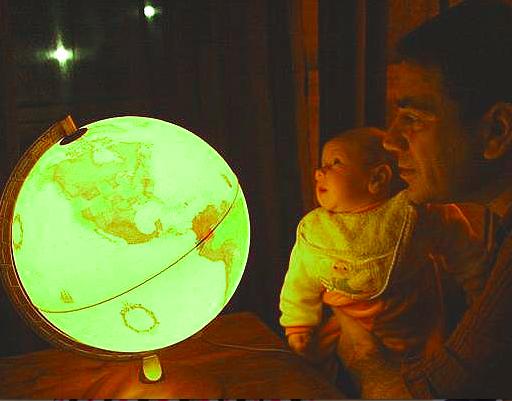 Bruno with globe